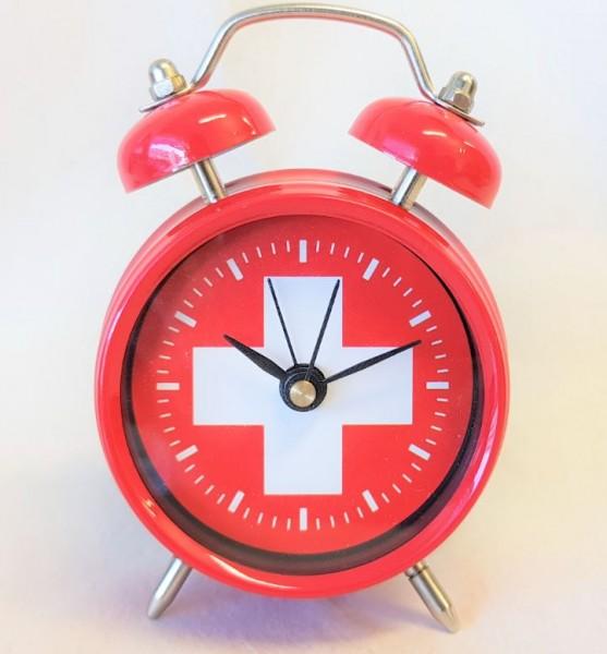 Tischwecker Schweizerkreuz, rot