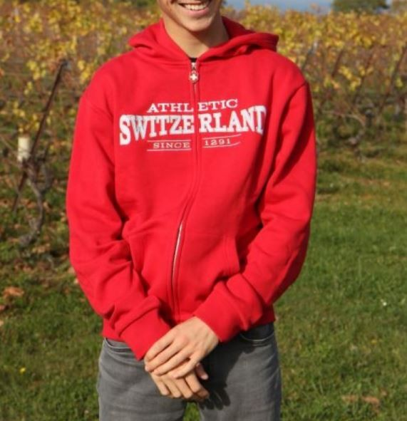 Kapuzenjacke Switzerland Athletic, rot