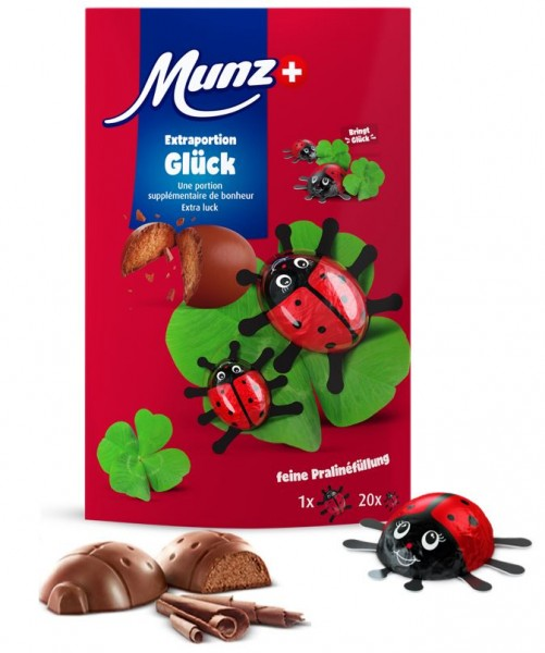 Munz Schokolade Glückskäfer 110g
