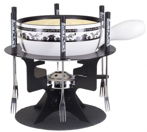 Käsefondue-Set Mini Fondue Bar Haus, 11-teilig