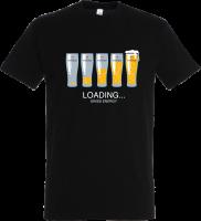 Männer T-Shirt Loading, schwarz