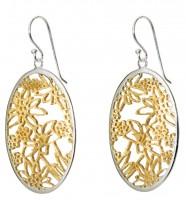 Ohrhänger Edelweiss 925 Silber vergoldet
