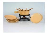 "Käse Fondue-Set ""Enzian"", 15-teilig, beige"