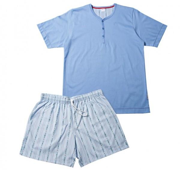 Herren Pyjama Schwinger kurz, hellblau