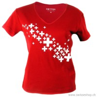 Damen T-Shirt Swiss Cross