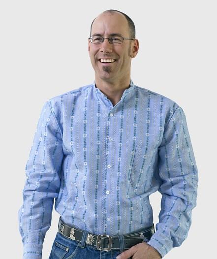 Herren Edelweiss-Hemd- langarm mit Stehkragen OF