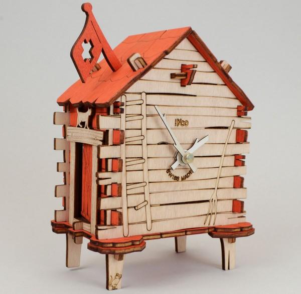 Tischuhr SwissKoo Mazoo aus Holz