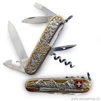 Schweizer Offizier Taschenmesser CV20, zweifarbig gold/silber