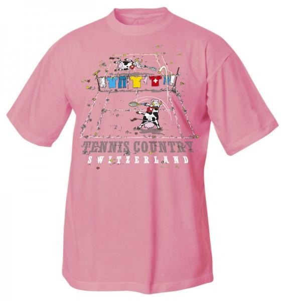 Kinder T-Shirt Tennis Kuh, rosa