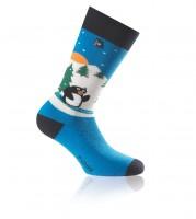 Socken Pinguin hellblau