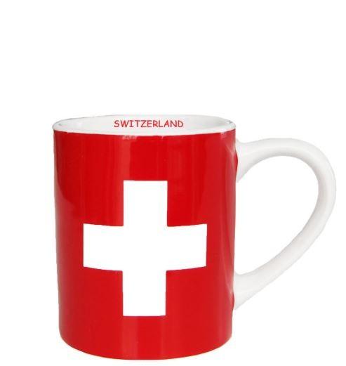 Espresso Tasse Schweizerkreuz, rot