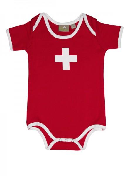 Baby-Body Swiss Cross, rot