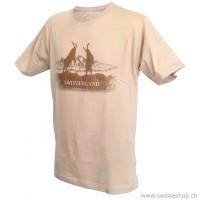 T-Shirt Steinböcke Alptitude, beige