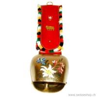 Glocke BERGBLUMEN mit Band schwarzem Glockenband)