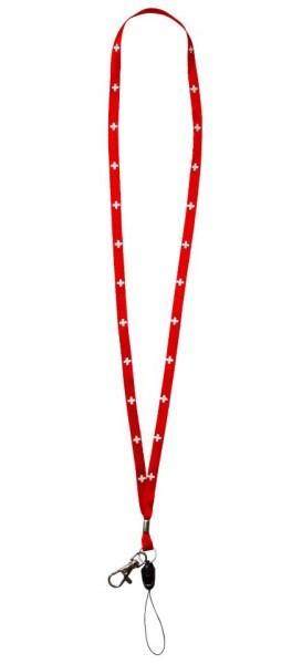 Schlüsselanhänger Nackenband rot