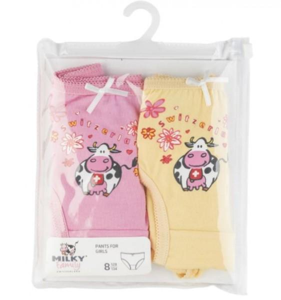 Unterhose für Mädchen, Duopack, rosa/gelb