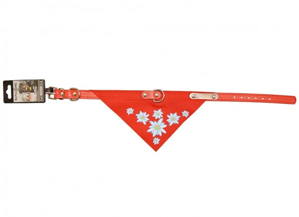 Hunde-Halsband Edelweiss rot