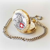 Taschenuhr Bolux 1P-14 Matterhorn, zweifarbig mit Kette gold