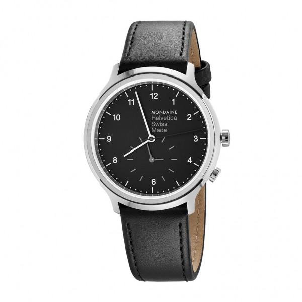 Armbanduhr Mondaine Helvetica No1 Regular 2nd Time Zone