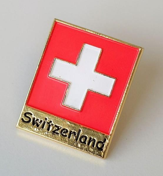 Pin Schweizerkreuz Switzerland, rot