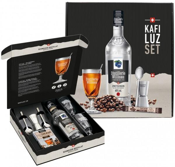 Kafi Luz Zwetschgen Distillerie Willisau Geschenkset, 40% Vol., 50 cl