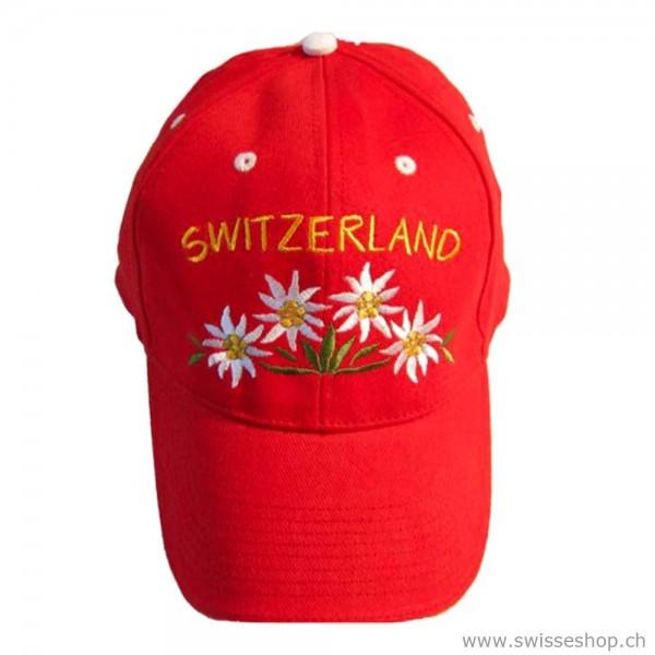 cap-muetze-schweiz-souvenir-edelweiss-ROT-6000205