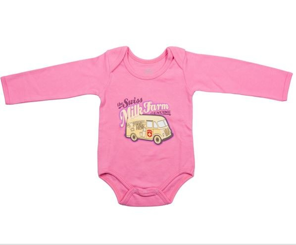 Baby Body Milk Bus, langarm