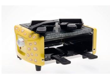 Raclette-Gerät Käseloch Dekor für 4 Personen