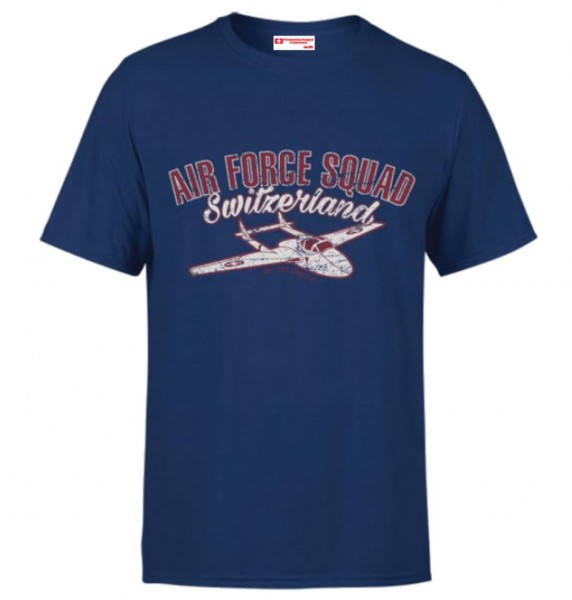 Herren T-Shirt Switzerland Air Force Squad