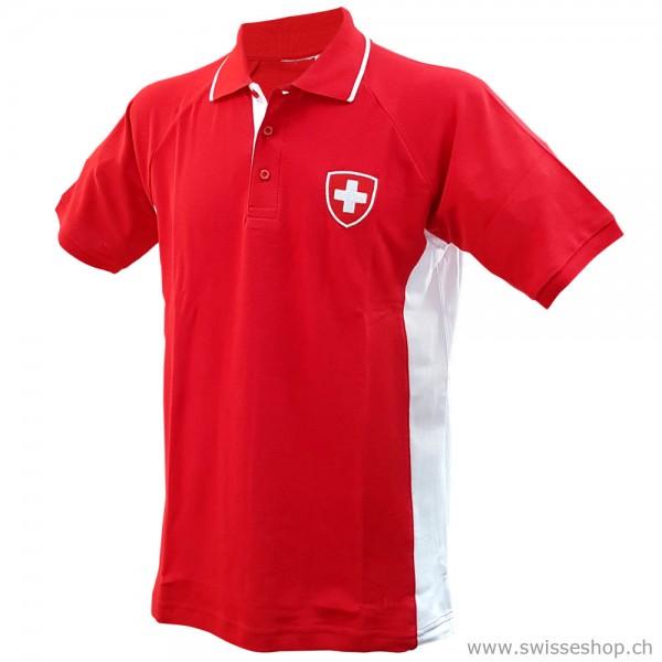Poloshirt Schweizer Wappen unisex