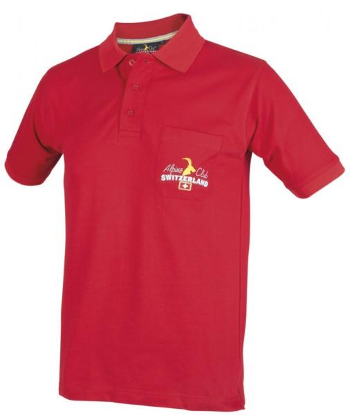 Herren Poloshirt mit Brusttasche, 100 % Baumwollpikee