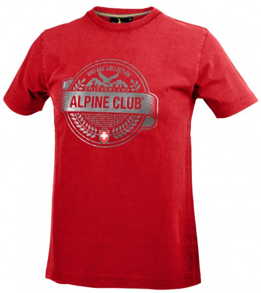 Herren T-Shirt Vintage Lorbeer Alpine Club