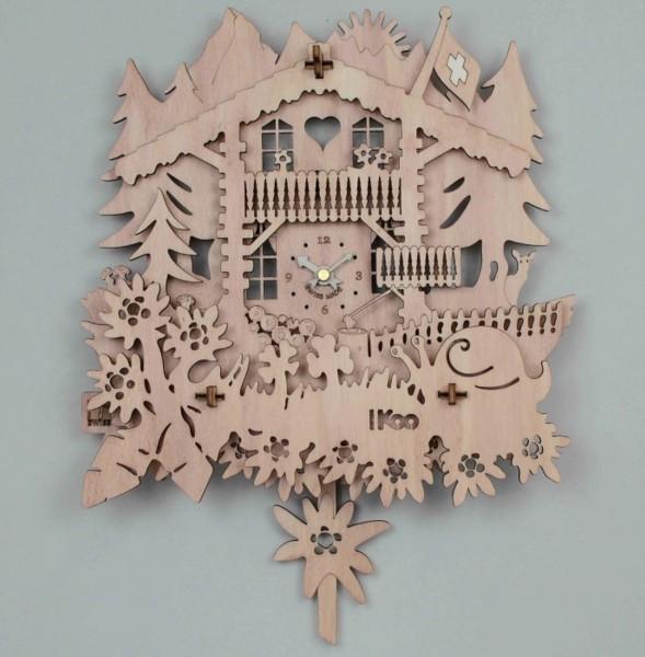 Wanduhr Koo aus Holz