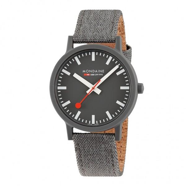 Armbanduhr Mondaine SBB Essence Nachhaltig Grey 41mm