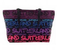 Tasche Switzerland violett, blau, pink