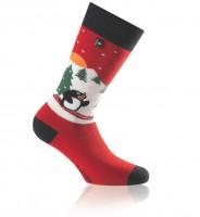 Socken Pinguin rot