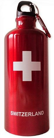 Trinkflasche SWITZERLAND rot 0.6