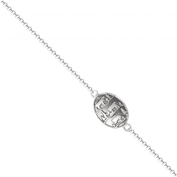 Armband Poya Rolokette, 925 Silber, schwarz rhodium