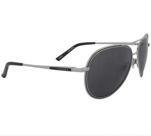 Sonnenbrille Pilot Swiss Military, silber/schwarz, 100% UV Schutz