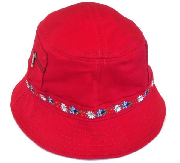Mütze Bob Alpenblumen 100 % Baumwolle
