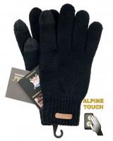 Touchscreen Handschuhe Unisex, schwarz / M (fuer Damen)